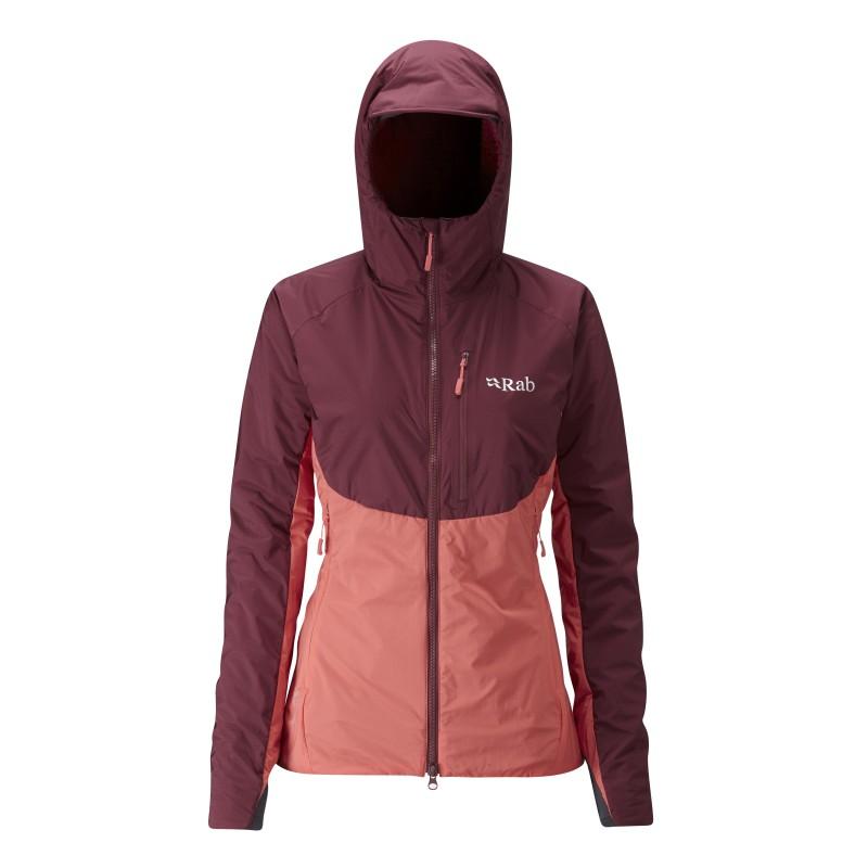 Rab dámská bunda Alpha Direct Jacket maple