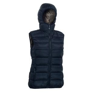Warmpeace dámská péřová vesta YUBA black/brown