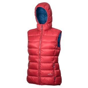 Warmpeace dámská péřová vesta YUBA mars redf/petrol