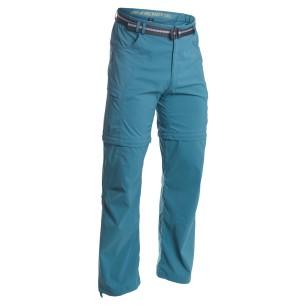 Warmpeace kalhoty FORDING zip-off Petrol